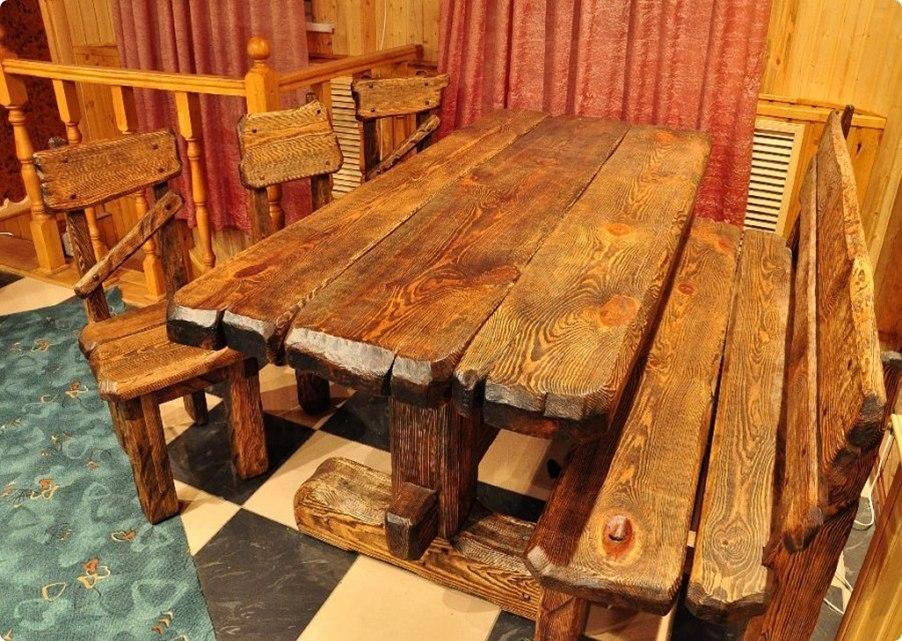 Фото столов из дерева под старину